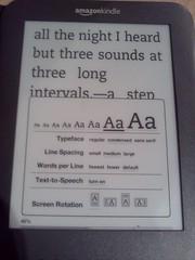 Kindle changing font options