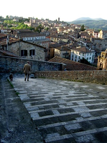Walking in Perugia