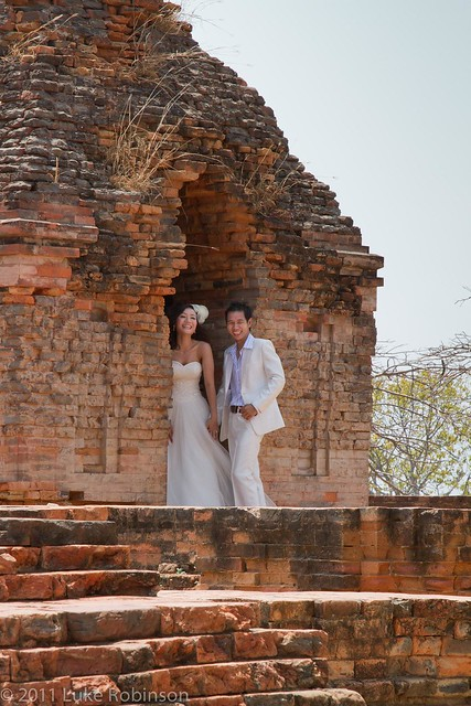 Bridal Couple at Cham Temples, Phan Thiet