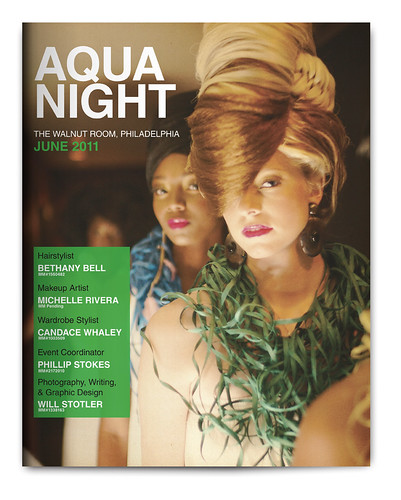 Design Project: Aqua Night Magazine Spread - Cover