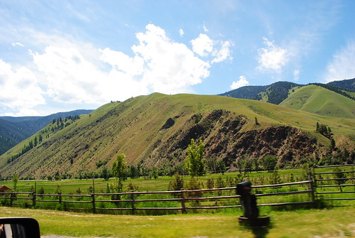 The drive to Challis