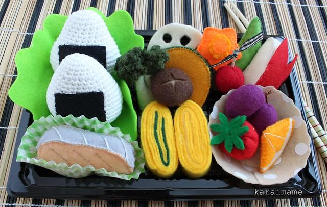 Bento box food play set