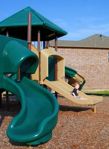 Brown Slide Fun