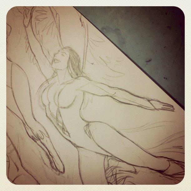 Dawnstar pose - pencils almost done #DCcomics #comics