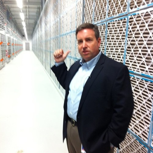 Thomas Furlong, director of site operations at Facebook, shows us a huge wall of filters at its datacenter