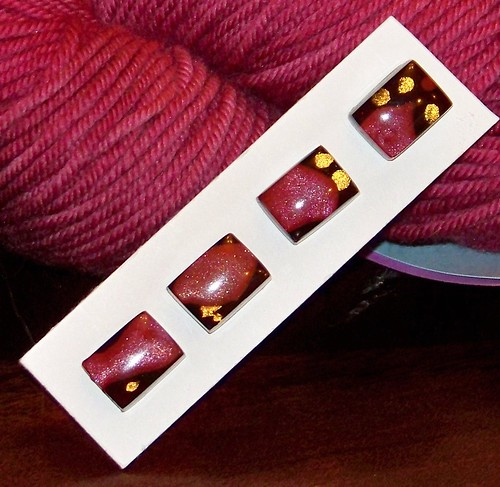 Resin Burgundy Sparkle Rectangle