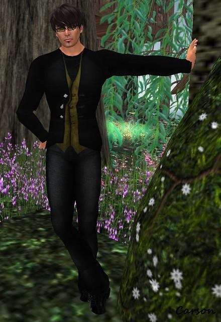 b[ELLEissima! Black Wool Pants, Black Olive Jacket & Vest, & Black Tee Group Gift