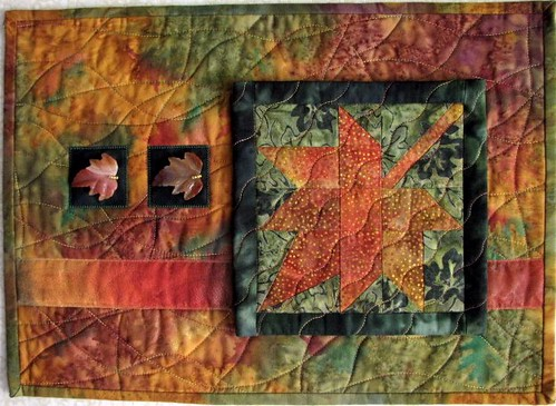 Autumn Leaves, May Gallery Exhibit @Quiltworks