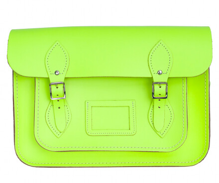 Cambridge Satchel fluorescent yellow