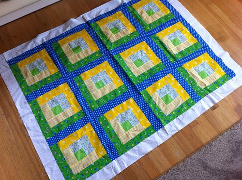 beautiful quilt top by Pam