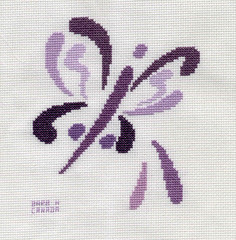 Brushstroke Butterfly3 by BarbH