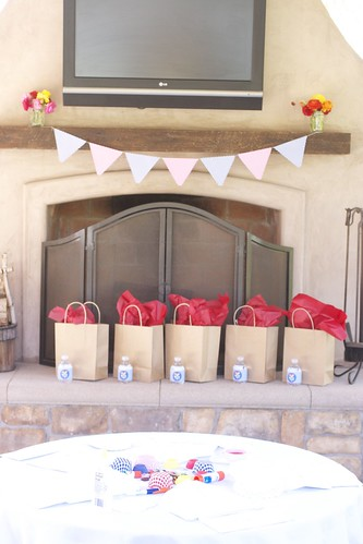 Banner and gift bags