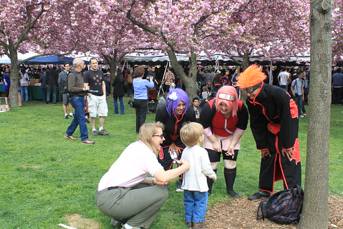 Brooklyn Botanical Gardens - Anime Characters with Child