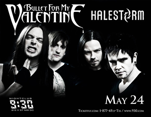 Bullet For My Valentine at the 9:30 Club