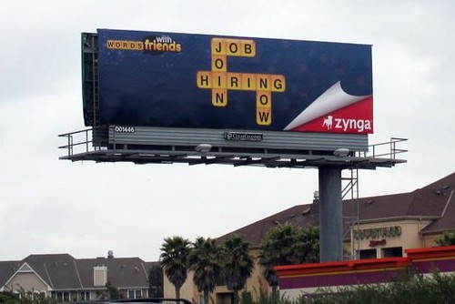 Words with Friends Billboard highway 101