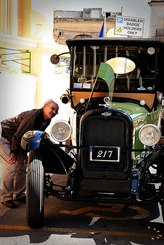 Man-looking-at-engine