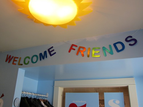 Welcome Friends Message Bunting