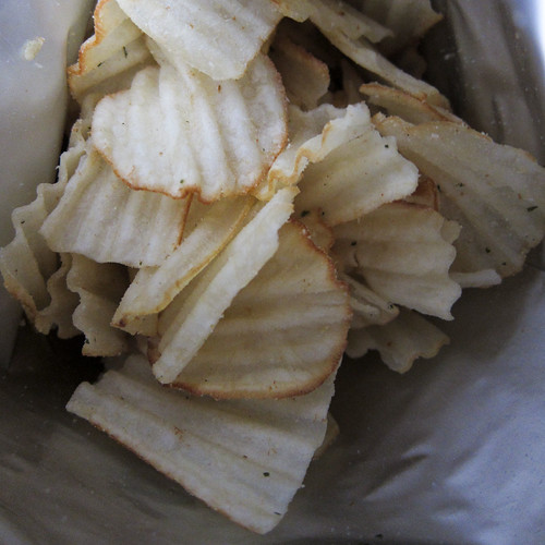 Inside the bag of California Crunch Cassava Chips