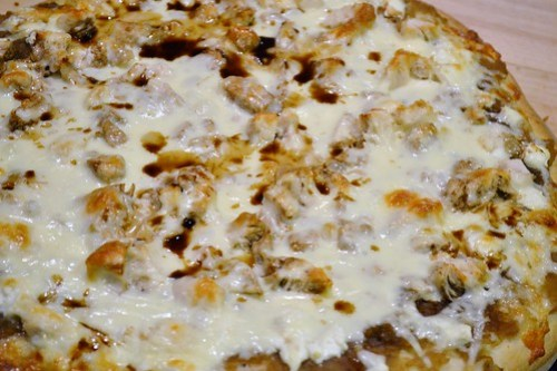 Apple Onion Slaw Pizza
