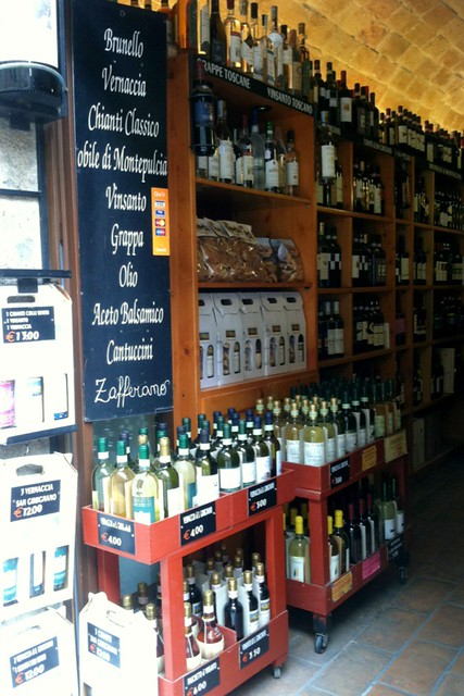 Wine shop in San Gimignano