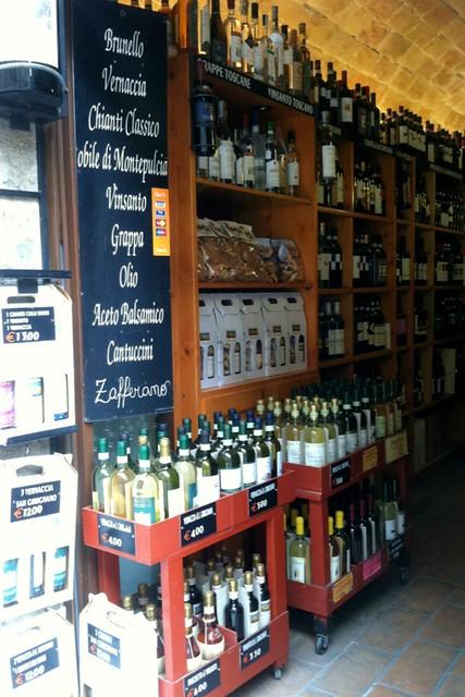 Wine shop in San Gimignano