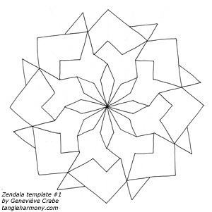 Mandala template #1