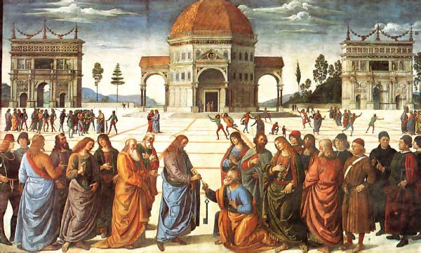 Christ Delivering the Keys of the Kingdom to Saint Peter by Pietro di Cristoforo Vannucci (1445?-1523), called Perugino