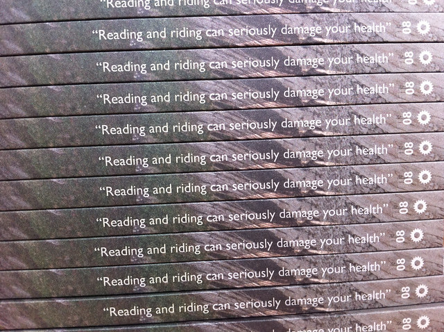 """Reading and riding can seriously damage your health"" - Dave Noakes"