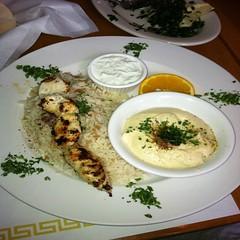 Chicken Souvlaki Platter @ Cafe Graikos
