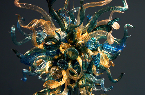 Dale Chihuly, Lapis & Gold Chandelier