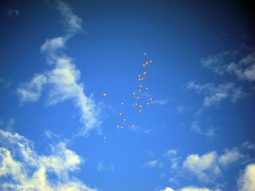 Baloons for the bride's father up there