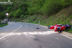 Motorradunfall B54 Bad Schwalbach 22.04.11