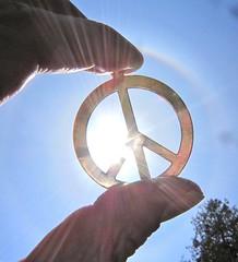 eye for an eye, gandhi, earth, world, peace, peace symbol, peace sun, sunlight, rays of sun,