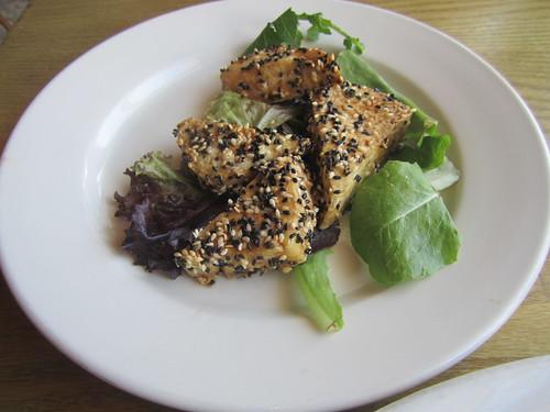 Tofu at Adam's Mountain Cafe