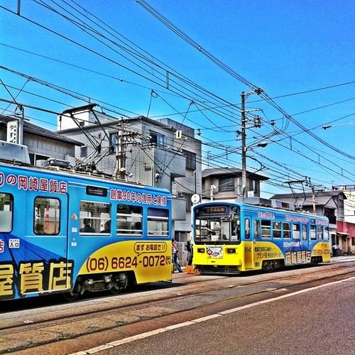 追い立てられる電車。 そんなに急がなくても…。 #Kitabatake #afternoon