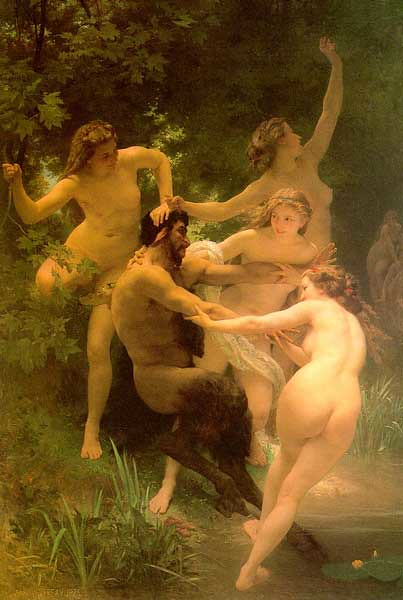 Nymphs and Satyr (1873) by William-Adolphe Bouguereau