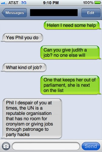 Txts from New York - Helen and Phil chat