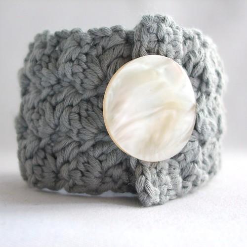 Ripple Stitch Crochet Cuff