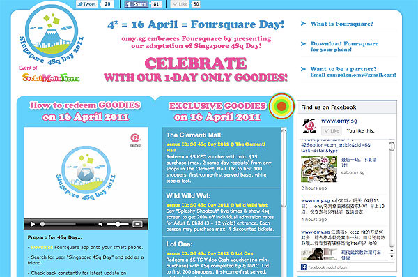 omy.sg celebrates Singapore 4Sq Day
