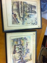vintage Parisian watercolors