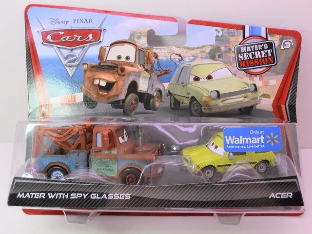 disney cars 2 mater with spy glasses acer maters secret mission 2 pack (1)