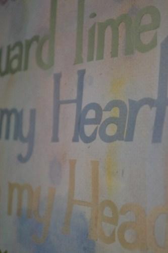 Mantra Wall Hanging Closeup