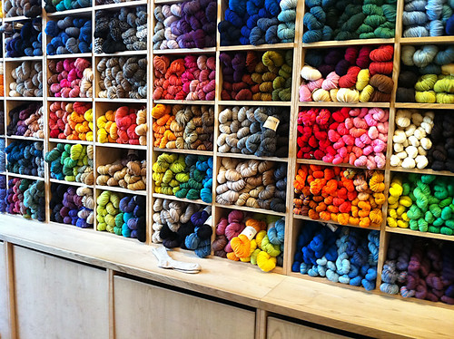 Purl Soho Wall of Yarn