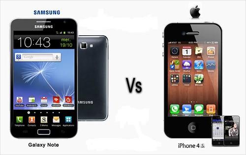 Apple iPhone 4S vs Samsung Galaxy note by sidduz, on Flickr