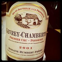 Gevrey-Chambertin 1er Cru Poissenot 2001 Domaine Humbert Freres