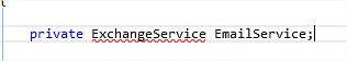 Require Microsoft.Exchange.WebServices Reference