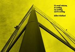 """Elbert Hubbard Quote"""" Do nothing"""