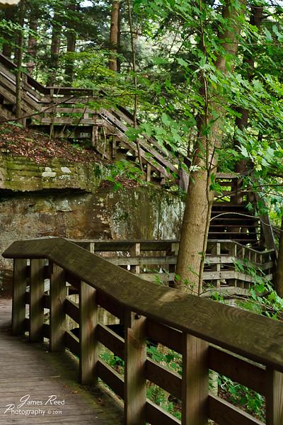 The boardwalk at Brandywine Falls.