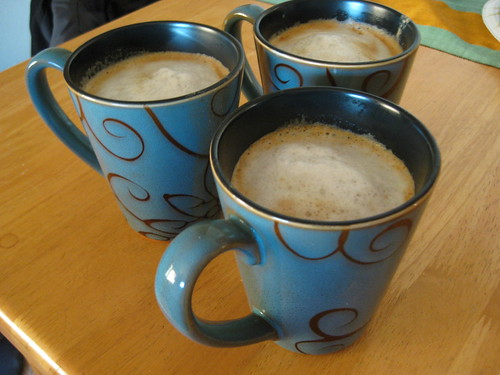 Homemade pumpkin lattes