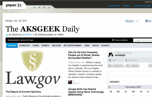 aksgeek paper.li newspaper